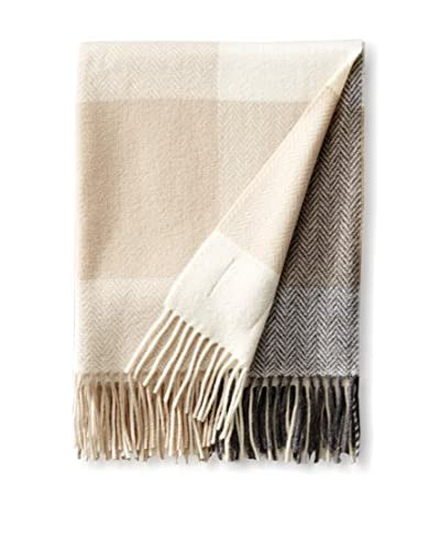 Foxford Luxury Cashmere & Lambswool Throw, Bone White