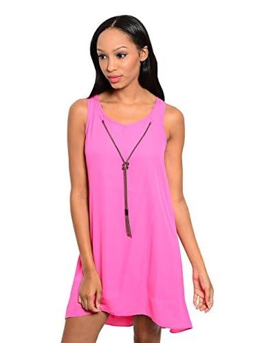 Club LA Women's Sleeveless Necklace Dress