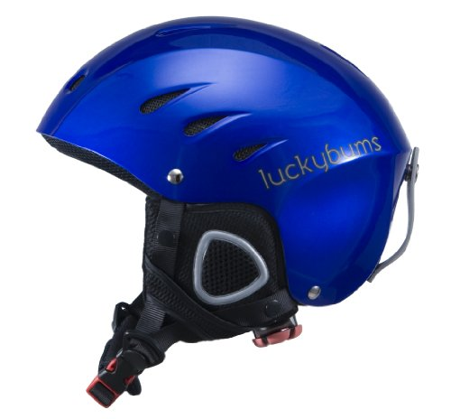 Lucky Bums Snow Sport Helmet with Fleece Liner, Blue, Large