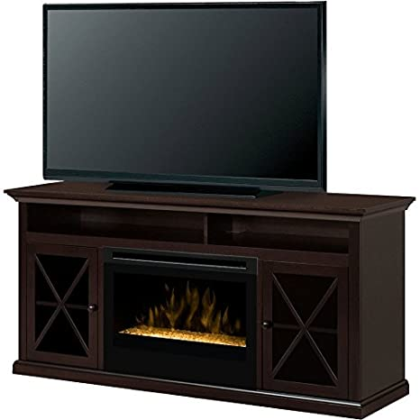 Dimplex Newman Electric Fireplace & Entertainment Center - Glass Embers (GDS25G-1390DR)