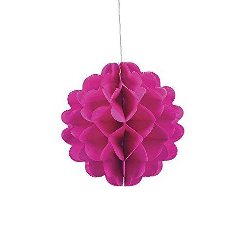 "Hot Pink 8"" Tissue Balls (1 Dozen) - Bulk"