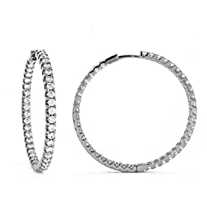 Genuine Volder Tirol TM White Gold Earrings. 18KT White Earring Hoop and 15 grams in Weight. 100% Satisfaction Guaranteed.