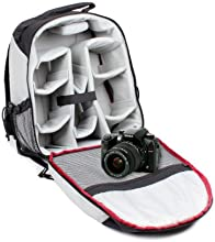 Rugged Nylon Water Resistant Black And Grey Backpack For Sigma SD15 Camera With Shoulder Straps