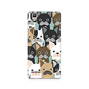 Mobicture Dog Family Cluster Premium Printed Case For Oppo F1