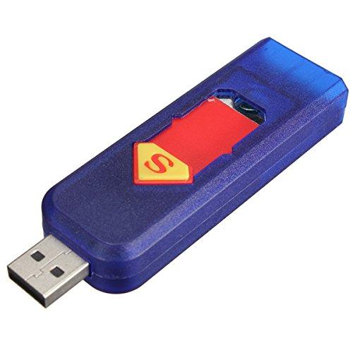 FamilyMall Elektronisches USB-Zigarettenanzünder, wiederaufladbar, keine offene Flamme Blau blau