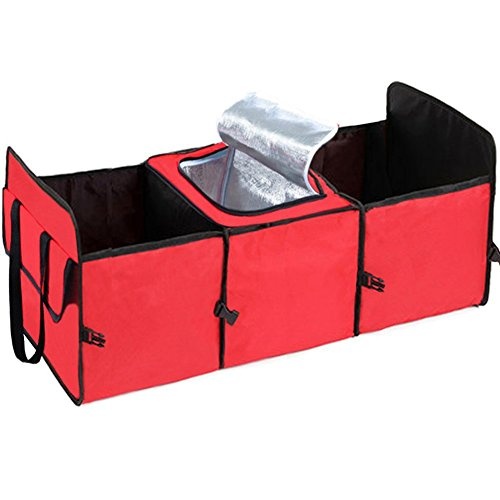 Big Ant Car Trunk Organizer - Cooler Storage for Auto Front & Back Seat, Collapsible - Hold Vehicle Cargo Secure and Prevent Sliding - Toy, Grocery, or Office Automotive Carrier Tote (Cargo Organizer With Cooler compare prices)