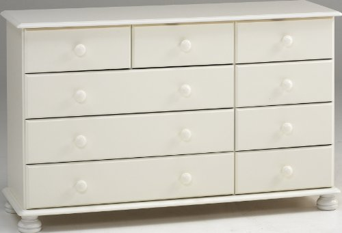 Chest with 2/3/4 Drawers, White MDF