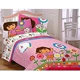 Dora the Explorer Cheerful Bloom Full Comforter ~ Dora the Explorer