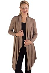 HSW313 S/M Taupe Heather BambooDreams Sweater 'Hilary' Long Wrap