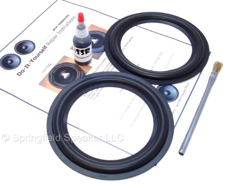 Butyl Rubber 6.5″ Speaker Surround Repair Kit – 2 Piece, 6.5 Inch
