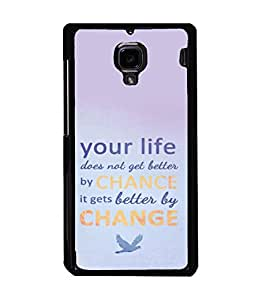printtech Cool Quotes Life Back Case Cover for Xiaomi Redmi 1S::Xiaomi Redmi (1st Gen)
