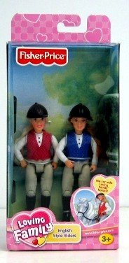 Loving Family Dollhouse English Riders Haley & Jacob (Fisher Price Doll Horse compare prices)