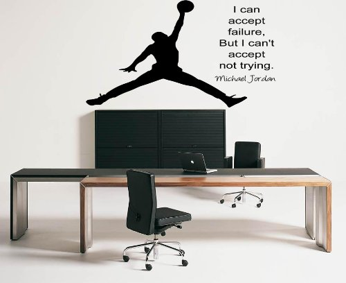 Large Michael Jordan Inspirational Wall Sticker Quote Vinly Decal Wall Mural 70X55 front-444848
