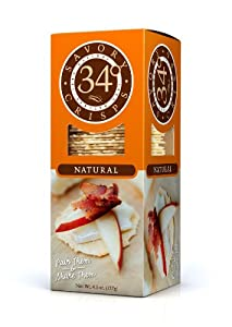 34 Degrees Natural Crisps, 4.5 Ounce Boxes (Pack of 6)