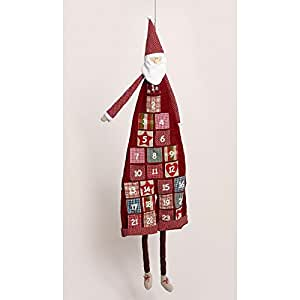 Adventskalender Weihnachtsmann Nikolaus aus Stoff 120cm