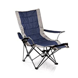 Picnic Time Portable Lounger Reclining Chair, Navy by Picnic Time (Sports-non license)