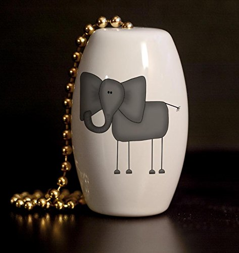 Funny Elephant Porcelain Fan / Light Pull (Wildlife Fan Pull compare prices)