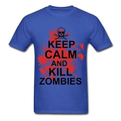 Handsome Clearance Sales Keep Calm And Kill Zombies Men Shirt