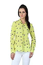 Liwa Yellow Polyester Tops For Women