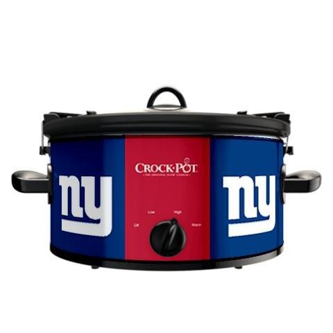 Digital Slow Cookers: Official NFL New York Giants Crock-pot Cook & Carry 6 Quart Slow Cooker