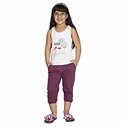 Clifton Girls Solid Capri - Wine - XX-Large