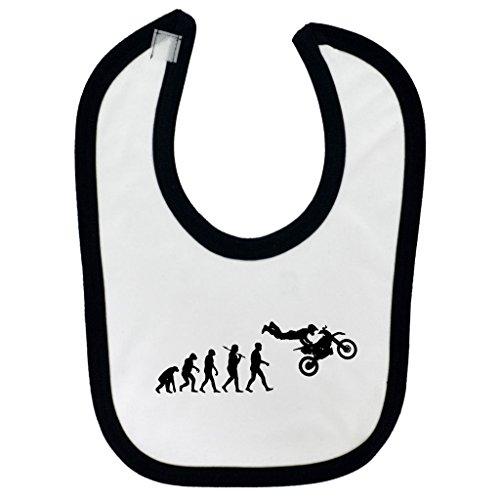 evolucion-de-freestyle-motocross-diseno-bebe-babero-con-negro-contrast-trim-y-impresion-en-negro