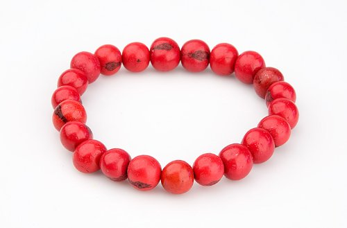 Zorbitz Giving Tree Acai Seed Stop AIDS Bracelet, Red