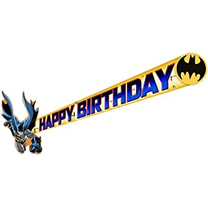 Batman Happy Birthday Party Banner-1 piece at Gotham City Store