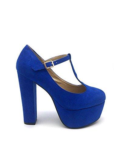 Grace, Blue simil camoscio, 35 - Scarpe con tacco - Martina Gabriele shoes
