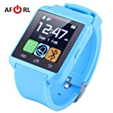 Amazingforless Bluetooth Touch Screen Smart Wrist Watch (U8 - Sky Blue)