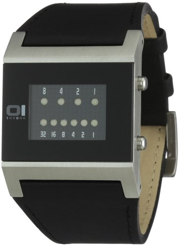 THE ONE Kerala Trance KT102B1 Men's Black Leather Strap Watch