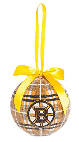 100Mm Led Ball Ornament, Boston Bruins