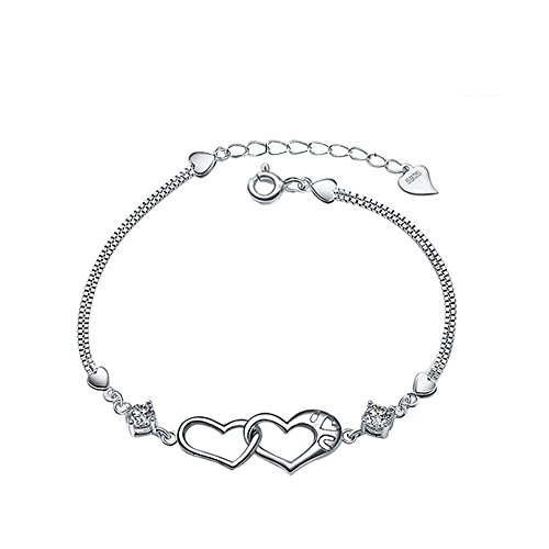 Why Choose SmallDragon Women's Silver-plated heart bangle Bracelet
