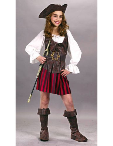 girls - High Seas Buccaneer Girl Large Halloween Costume