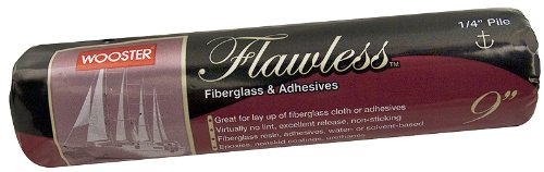 wooster-brush-mr504-9-flawless-fiberglass-and-adhesives-roller-cover-1-4-inch-pile-9-inch