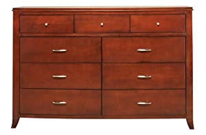 Five Drawer Oriental Furniture Natural Fiber Chest of Drawers