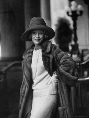 British+Actress+Margaret+Leighton+Showing+New+Fashion+Trend+by+Wearing+Slouch+Style+Hat+Collections+Premium+Photographic+Poster+Print+by+Gordon+Parks%2C+24x32
