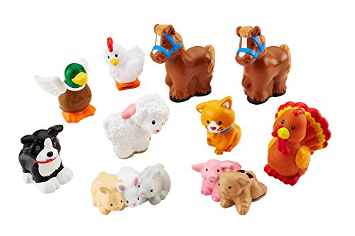 fisher price little people farm animal friends with baby bunnies piglets toys games toys dolls. Black Bedroom Furniture Sets. Home Design Ideas