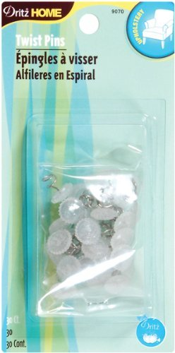 Find Bargain Dritz 9070 Upholstery Clear Heads Twist Pins, 3/4-Inch, 30-Pack