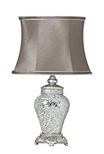 Regency Table Lamp Finish: Silver, Shade Colour: Taupe from Ideal Textiles