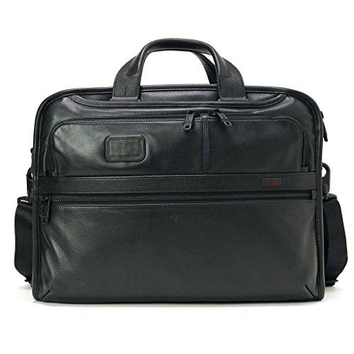 (トゥミ)TUMI 096108 D2 Alpha2 Leather Business Organizer Portfolio Brief オーガナイザー ポートフォリオ レザー ブリーフ BLACK/ブラック [並行輸入品]