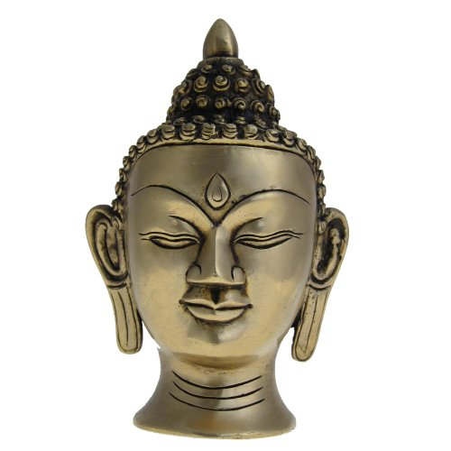 Buddha testa Regali religiosi Sculture e Collezionismo in ottone 10,16 cm x 16,51 cm x 8,25 cm