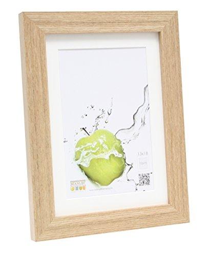 Deknudt Frames S66KH1-P1-13.0X18.0 - Cornice quadro / foto Basic con passepartout, bordi in legno/MDF,colore: Quercia13 x 18 cm
