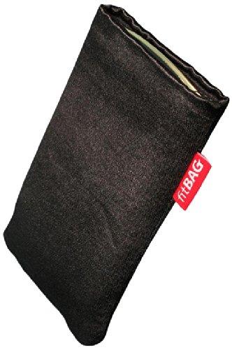 fitBAG Techno Nero Cover Textil-Stoff con Fodera in Microfibra per Sony Xperia Z2