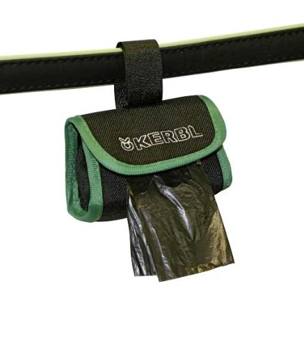 Artikelbild: Kerbl 83453 Tasche für Kotbeutel aus Nylon, 8 x 5,5 cm, schwarz / grün