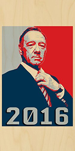 """Frank Underwood Hope Tv Show & Political Parody """"2016"""" - Plywood Wood Print Poster Wall Art front-1000319"""