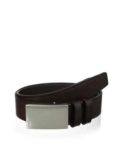 J.Campbell Los Angeles Men's Embossed Plaque Buckle Belt