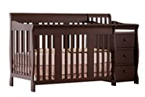 Hot Sale Stork Craft Portofino 4-in-1 Fixed Side Convertible Crib and Changer, Espresso