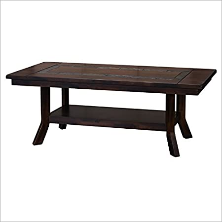 Sunny Designs Santa Fe Coffee Table with Shelf in Dark Chocolate