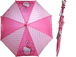 Cute Hello Kitty Pink Girls Umbrella